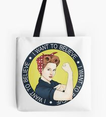 Remake. Scully, the riveter. Tote Bag