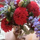 Dahlia & Catmint by Barbara Wyeth