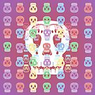 Skulls Pastel Pattern by melasdesign