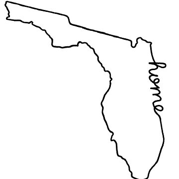 Florida Home State Outline by jamiemaher15
