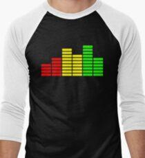 Rasta Levels (on black) Men's Baseball ¾ T-Shirt