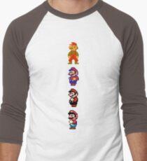 All 8 Bit Mario Men's Baseball ¾ T-Shirt