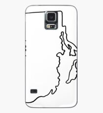 Rhode Island Home State Outline Case/Skin for Samsung Galaxy