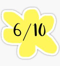 dodie clark 6/10 flower design Sticker
