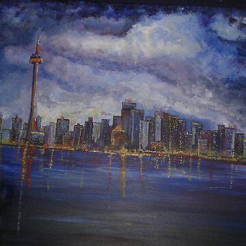 Toronto skyline by Izzy83