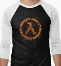 Half Life Splatter Men's Baseball ¾ T-Shirt