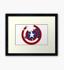 Cap's Shield Framed Print