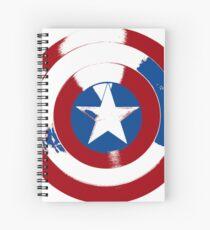 Cap's Shield Spiral Notebook