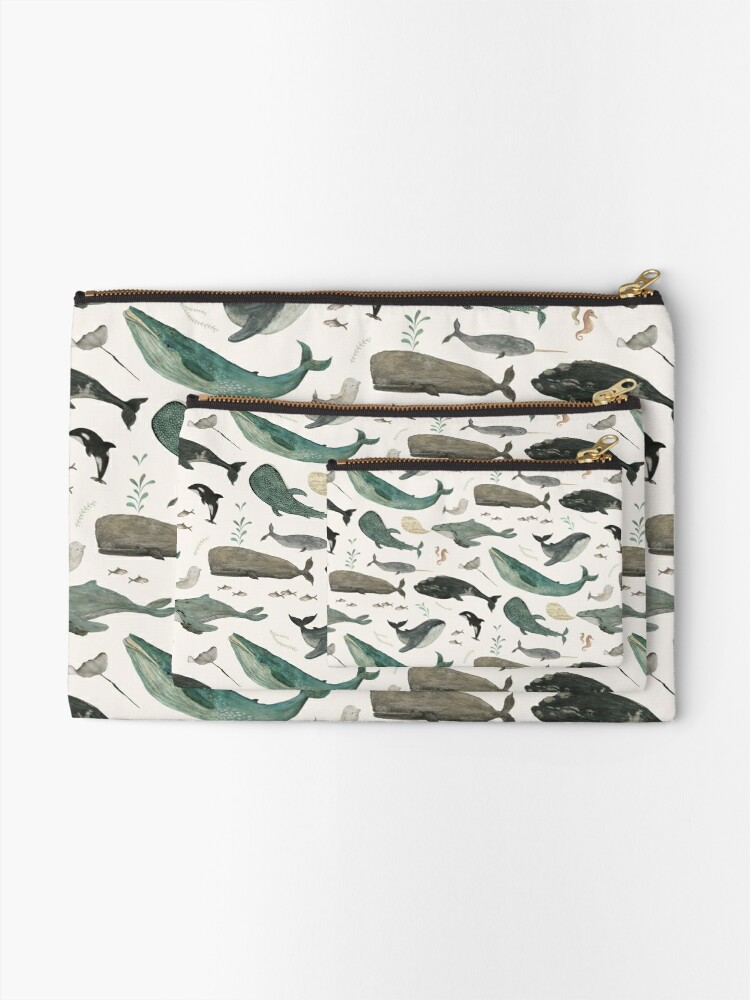 Alternate view of Whale Song Zipper Pouch