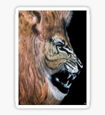 roaring like a lion Sticker