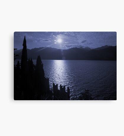 Lago di Garda, in blue Canvas Print