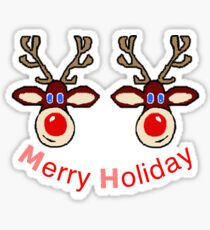 Merry Holiday Naughtyness for Reindeer noses Sticker