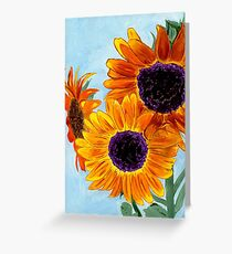 SERENITY Sunflowers Greeting Card