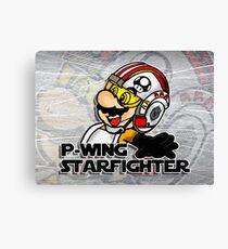 P-Wing Starfighter (Print Version) Canvas Print