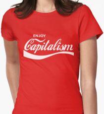 Genieße den Kapitalismus Tailliertes T-Shirt für Frauen