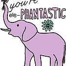 purple elephantastic elephant by andilynnf