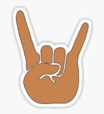 hook em horns hand Sticker
