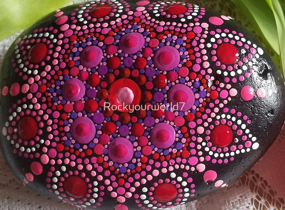 mandala art, painted rock art by Rockyourworld7