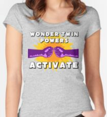 Wonder Twins Women's Fitted Scoop T-Shirt