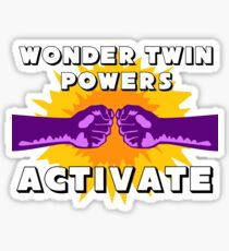 Wonder Twins Sticker