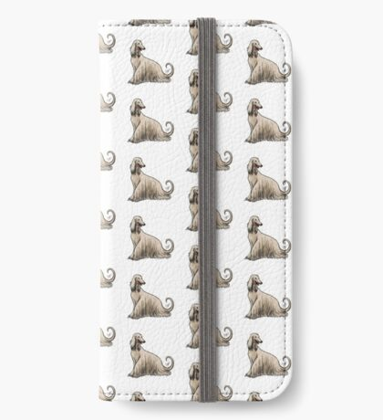 Afghan Hound iPhone Wallet