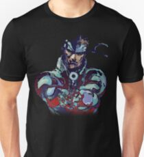 Metal Gear Solid Snake Classic RARE Design 100% Redrawn In Adobe Ilustrator Vector Format.  T-Shirt