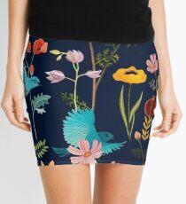 flores y pajaros  Mini Skirt