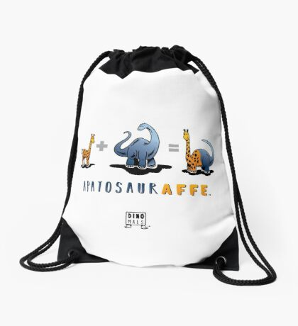 APATOSAURAFFE™: MATH Drawstring Bag