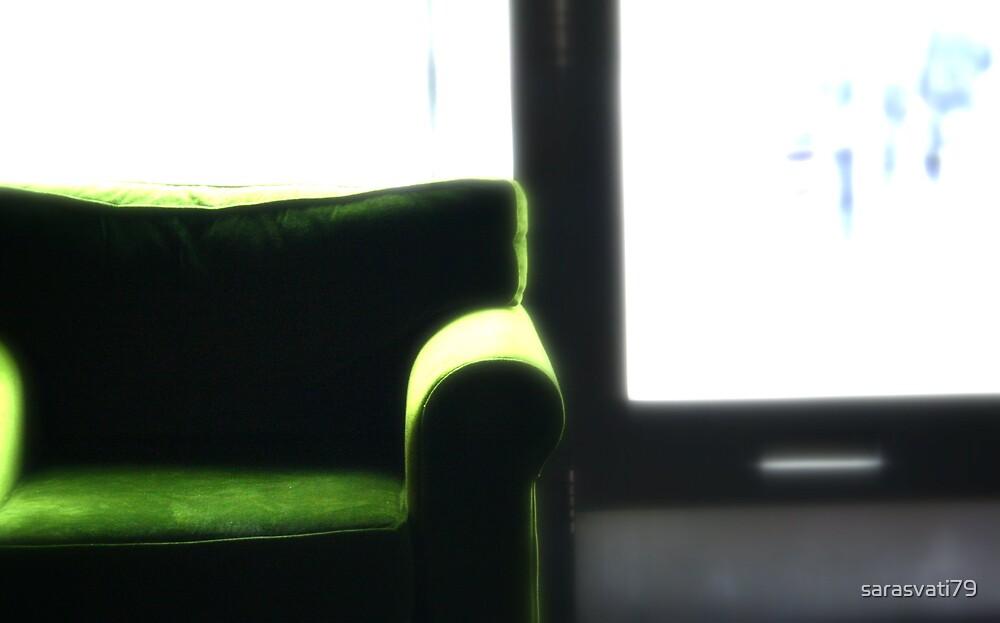 The green chair by sarasvati79