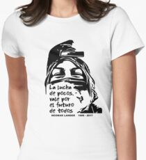 VENEZUELA IN RESISTANCE NEOMAR LANDER QUOTE Women's Fitted T-Shirt