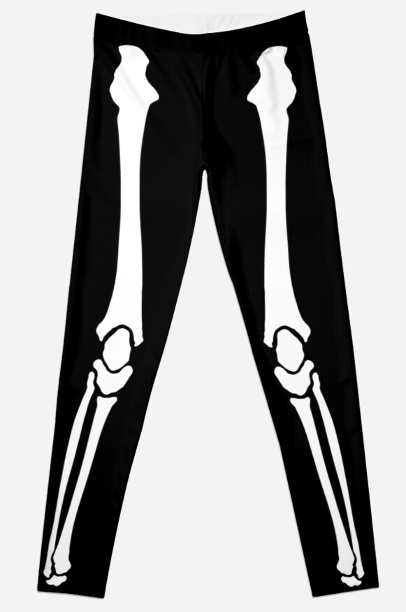 White Skeleton Leggings by SilentNoiseArt