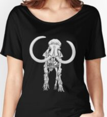 Woolly Mammoth Skeleton Women's Relaxed Fit T-Shirt