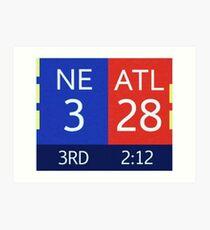 Die Falcons 28-3 führen Kunstdruck