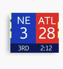 The Falcons 28-3 Lead Canvas Print