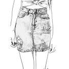 denim skirt by Loui  Jover