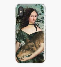 Portrait with a wolf iPhone Case/Skin