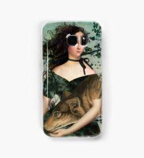 Portrait with a wolf Samsung Galaxy Case/Skin