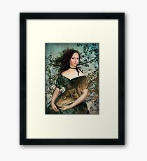 Portrait with a wolf Framed Print