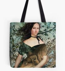Portrait with a wolf Tote Bag