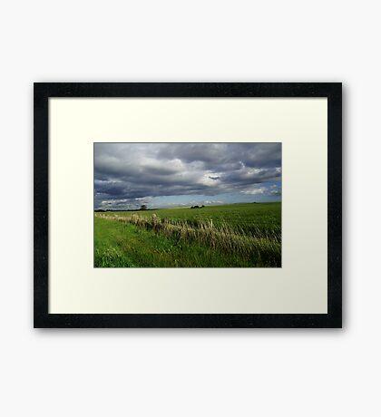 Diggers road, Bulla.Victoria Framed Print