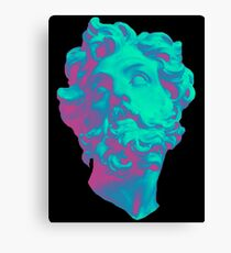 Aesthetic Statue Head Canvas Print