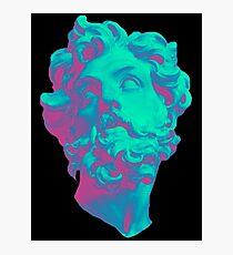 Aesthetic Statue Head Photographic Print