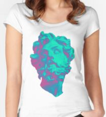 Aesthetic Statue Head Women's Fitted Scoop T-Shirt
