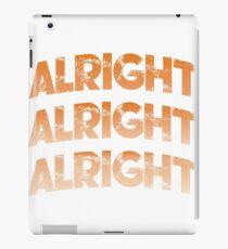 "Matthew McConaughey Official - ""Alright""  iPad Case/Skin"