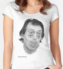 Steve Buscemi Eyes Women's Fitted Scoop T-Shirt