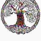 TREE OF LIFE - painters death NEW DESIGN by butterflyscream