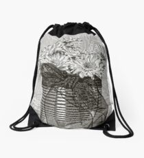 Tin Can Daisies  Drawstring Bag