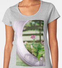 Pink Floral 2 Women's Premium T-Shirt
