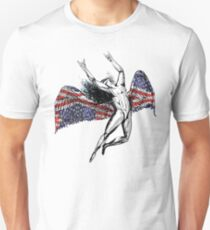 ICARUS THROWS THE HORNS - stars and stripes NEW T-Shirt