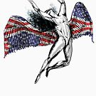ICARUS THROWS THE HORNS - stars and stripes NEW by butterflyscream
